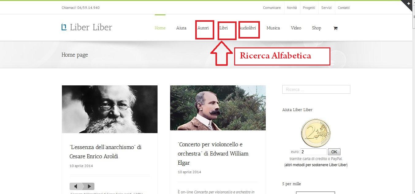 La ricerca alfabetica - clicca per ingrandire