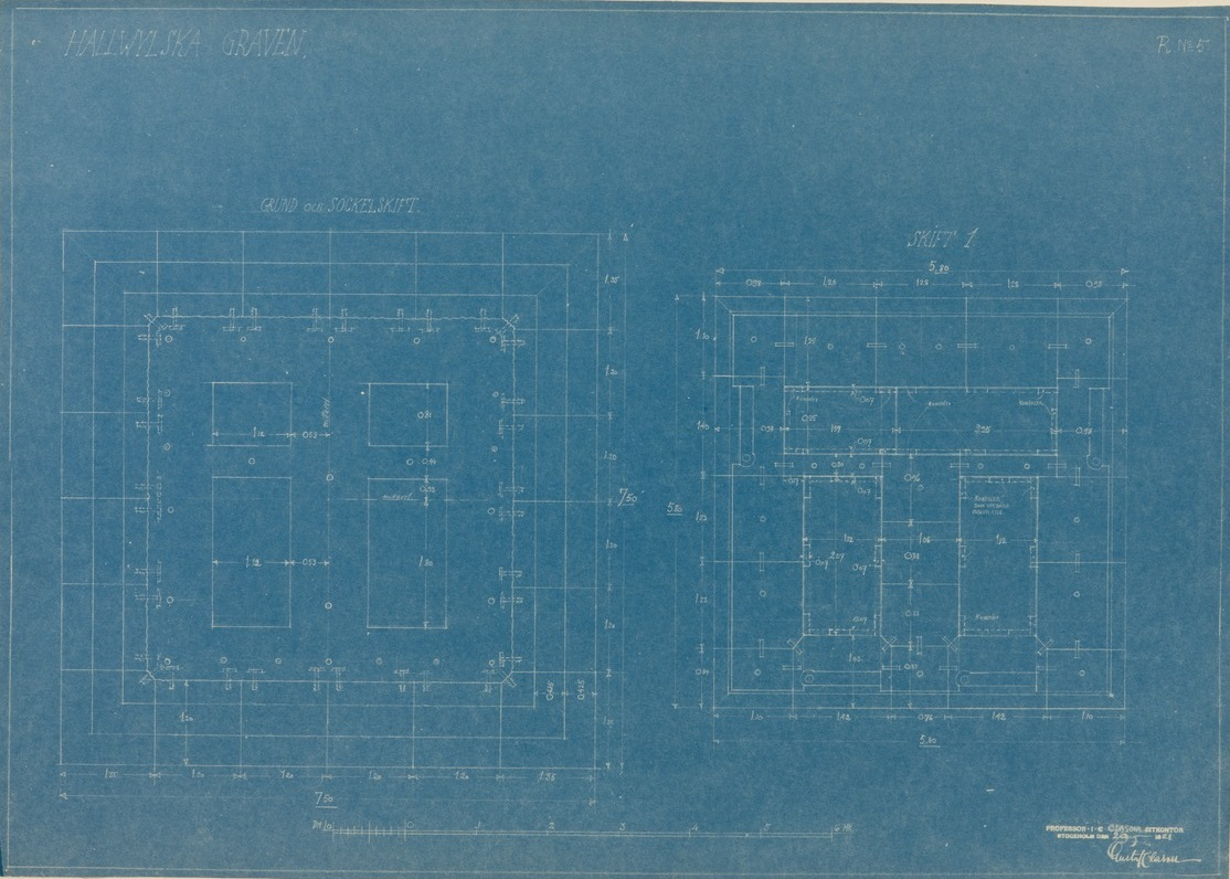 blueprints of a building