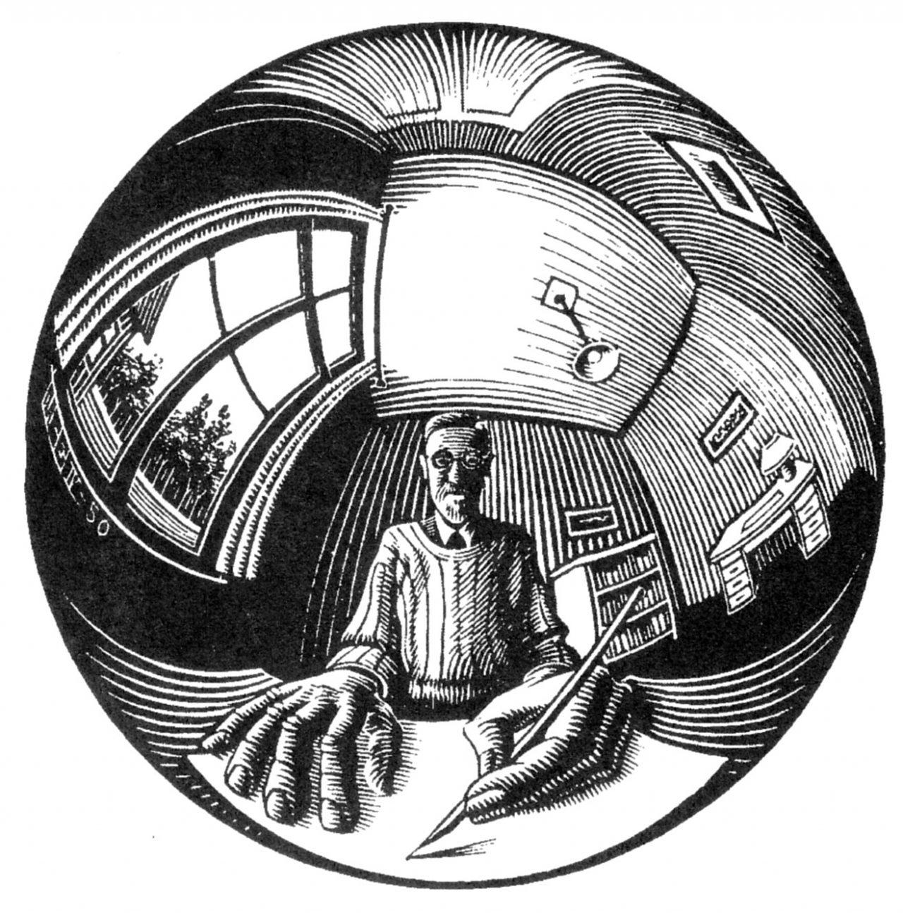 autoritratto di Escher - foto di omega